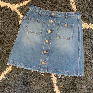 Loft Jean button jean skirt